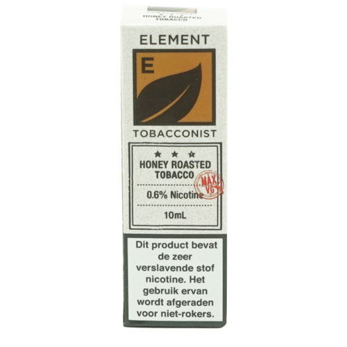 Honey Roasted Tobacco - Element e-Liquids TOBACCONIST dripper